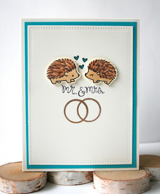 Wedding Invitation Card by Jess Crafts featuring Lawn Fawn Sending Hedgehugs