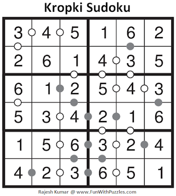 6x6 Kropki Sudoku (Mini Sudoku Series #59) Solution