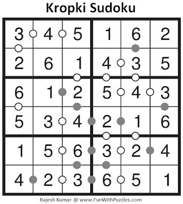 6x6 Kropki Sudoku (Mini Sudoku Series #59) Solution