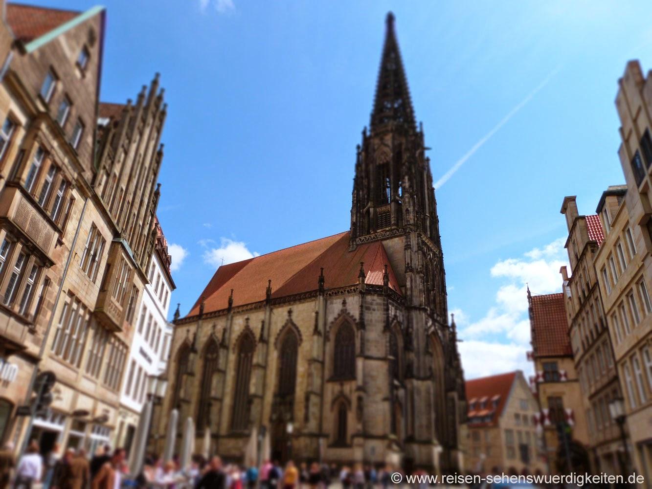 Sehenswürdigkeiten in Münster, St. Lamberti Kirche Münster am Prinzipalmarkt