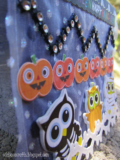 A kid friendly halloween handmade card by CdeBaca Crafts.