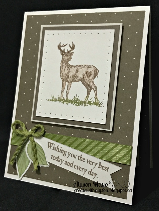 Create with alyson masculine deer birthday card around the stamped deer image which was coloured with watercolour pencils and and blending pen i just poked holes to simulate stitching bookmarktalkfo Image collections
