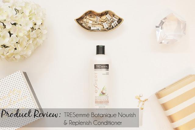 Tresemmé with Coconut Milk & Aloe Vera Botanique Nourish & Replenish Conditioner Review | on HairliciousInc.com