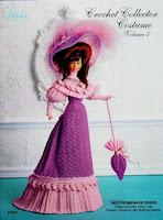 vestido de época em crochê para bonecas Barbie e para bonecas similares.