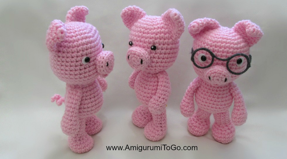 Happyamigurumi: New Amigurumi Pattern : Little Pig PDF Tutorial ... | 543x980