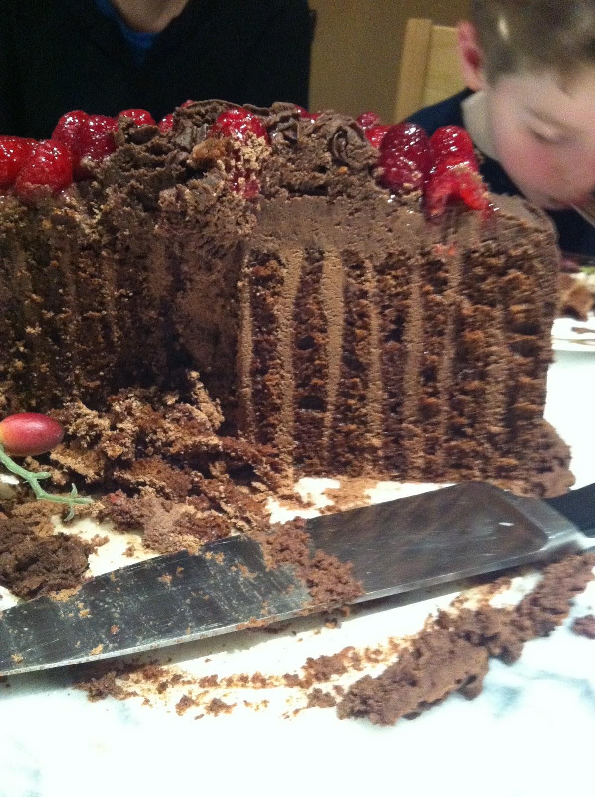 House Afire Fancy Chocolate Cake