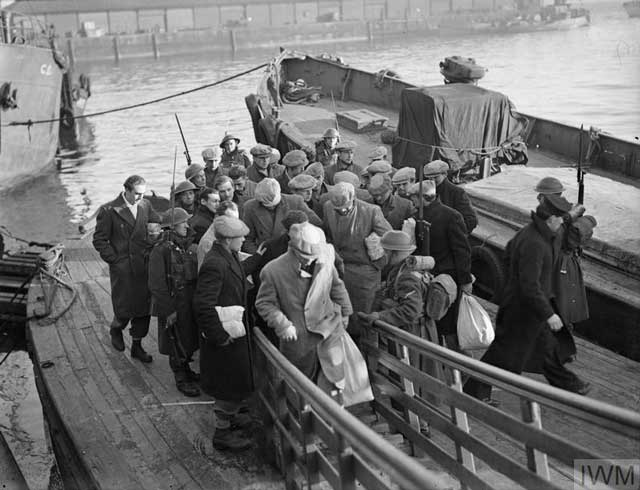 German POWs arrive at Greenock, 6 January 1942 worldwartwo.filminspector.com