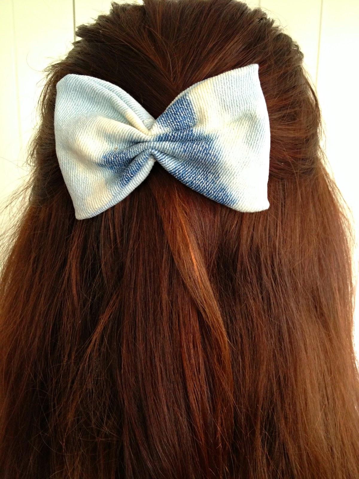 Salute To Cute Diy Hair Bows Denim Scraps Tutorial