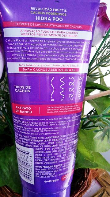Achegue-se! Cachos poderosos: HIDRAPOO - Creme de limpeza ativador de cachos da Garnier Fructis