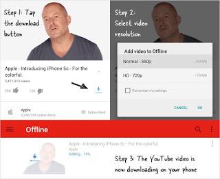 download youtube video offline