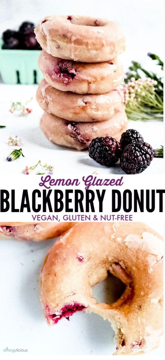 baked blackberry donuts (vegan and gluten free)