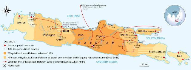 Letak Kerajaan Mataram Islam