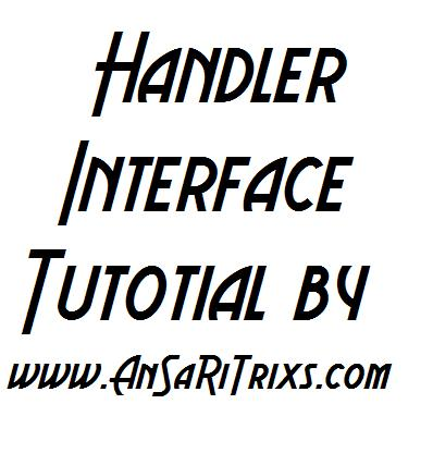 How To Add Handler Interface To Any Application