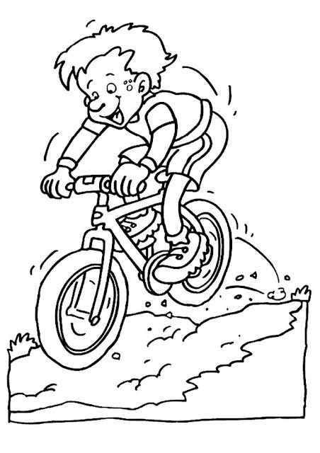 Gambar Mewarnai Bermain Sepeda - 8