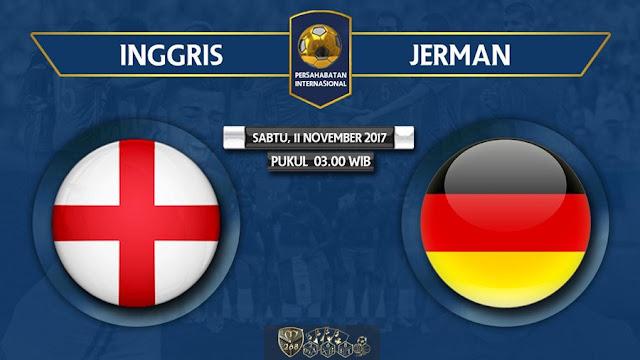 Prediksi Bola : Inggris Vs Jerman , Sabtu 11 November 2017 Pukul 03.00 WIB