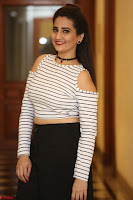 Manjusha in sleevelss crop top and black skirt at Darshakudu pre release ~  Exclusive Celebrities Galleries 070.JPG