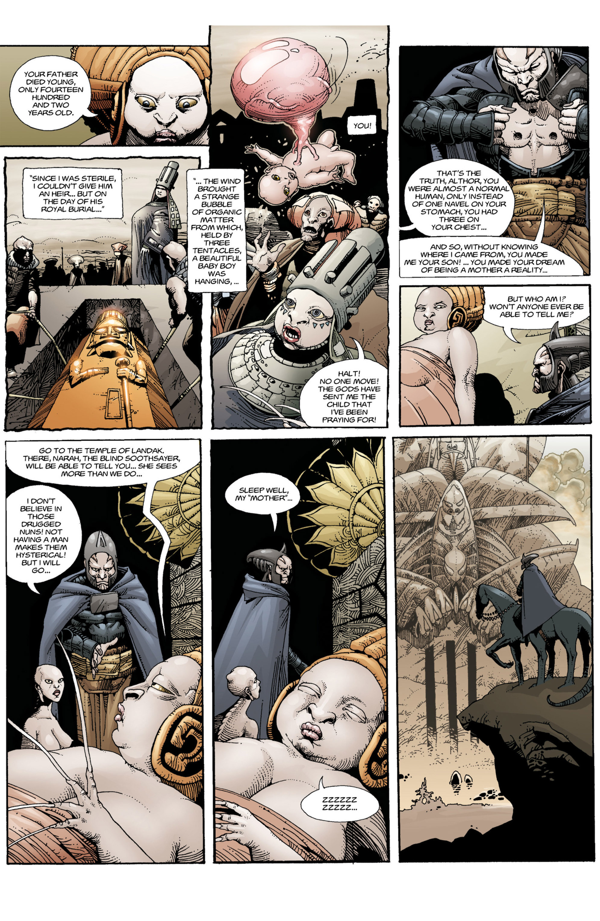 Read online Alejandro Jodorowsky's Screaming Planet comic -  Issue #1 - 14