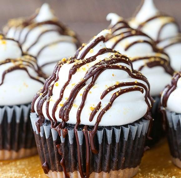 SMORES CUPCAKES #cakes #dessert