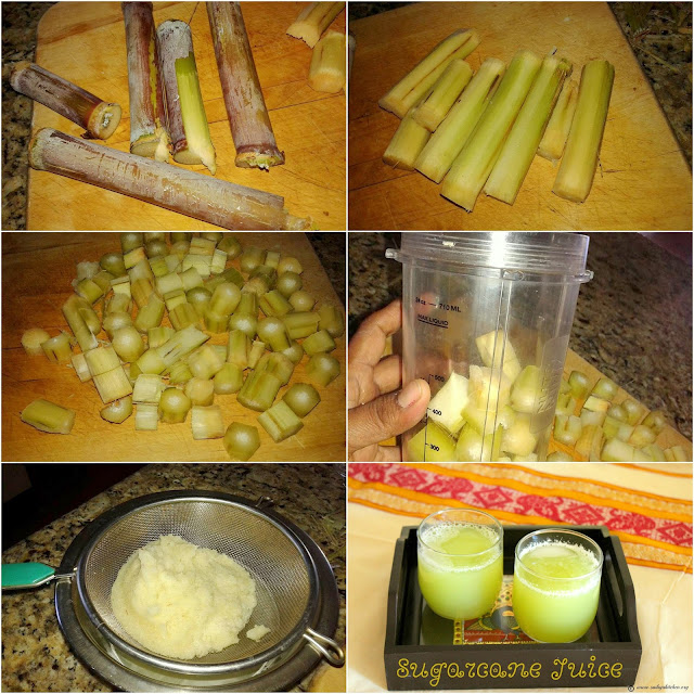 images of How to make Sugar Cane Juice at home / Homemade Sugarcane Juice / Karumbu Juice