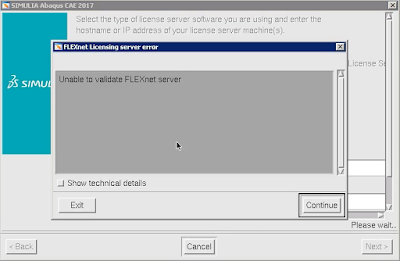 Abaqus: Unable to validate FLEXnet server