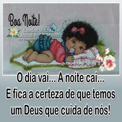 O dia vai...  A noite cai...  E fica a certeza de que temos  um Deus que cuida de nós!  Boa Noite!