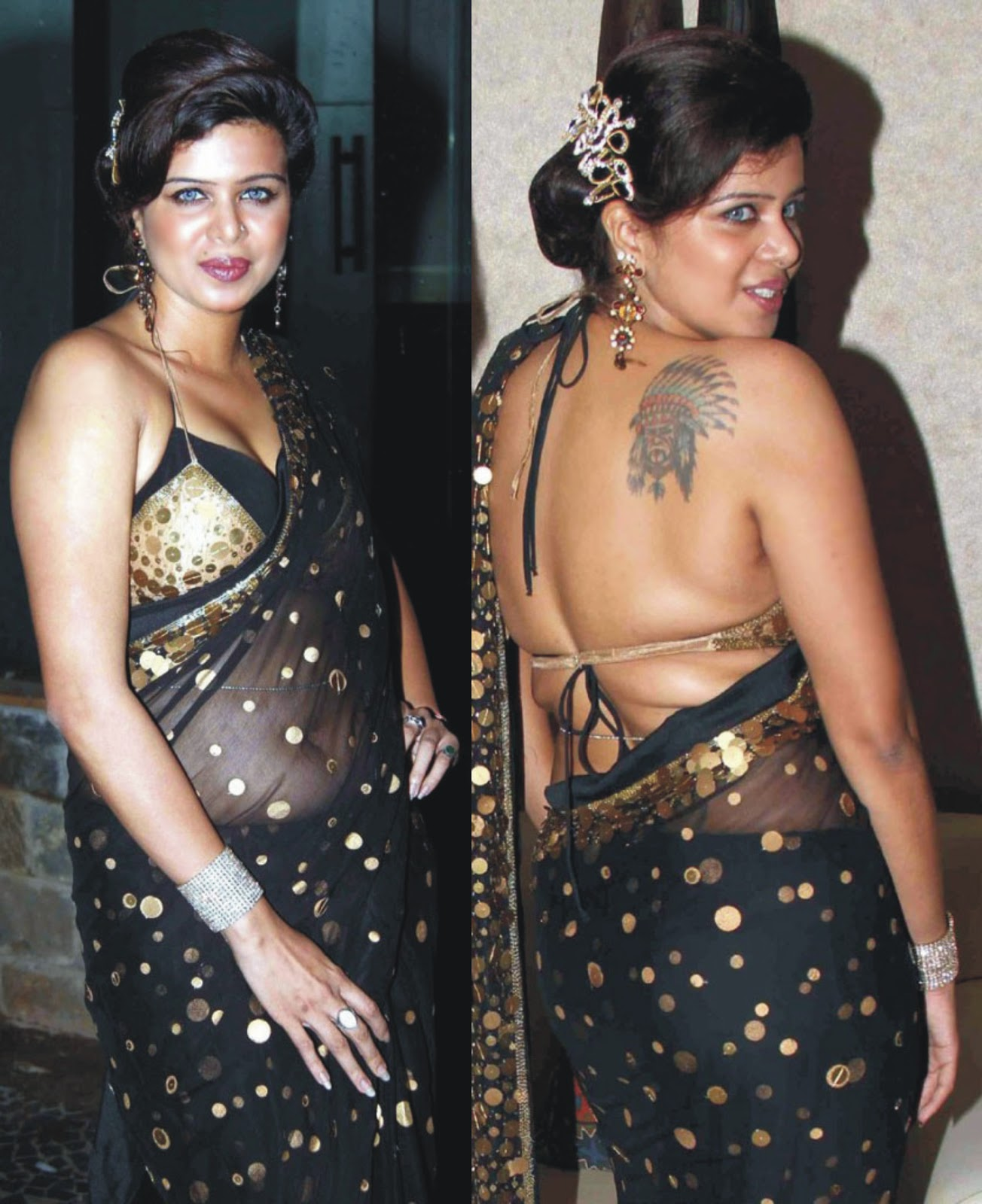 Mallu Aunties Hot Saree Photos - Celebrity Trends Photography-8644