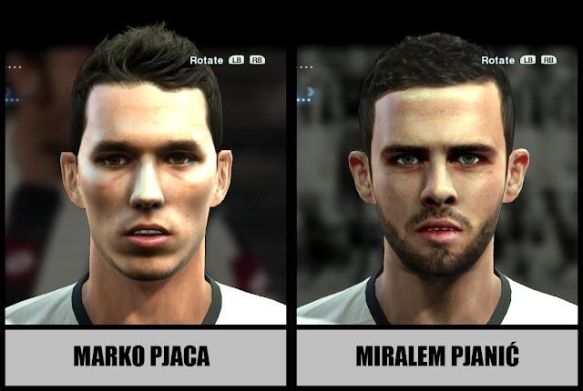 PES 2013 Marko Pjaca Face & Miralem Pjanić Face