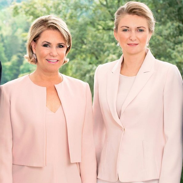 Grand Duchess Maria Teresa and Hereditary Grand Duchess Stéphanie