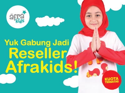 Reseller Afrakids, Model Kaos Afrakids TERBARU, Baju Muslim Anak Afrakids