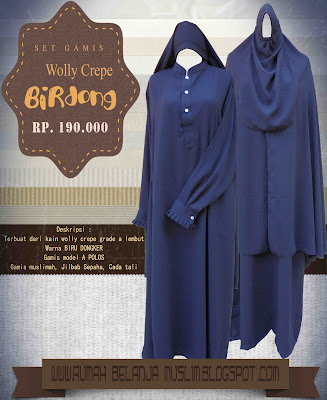 Set Gamis Wolly Crepe Birdong