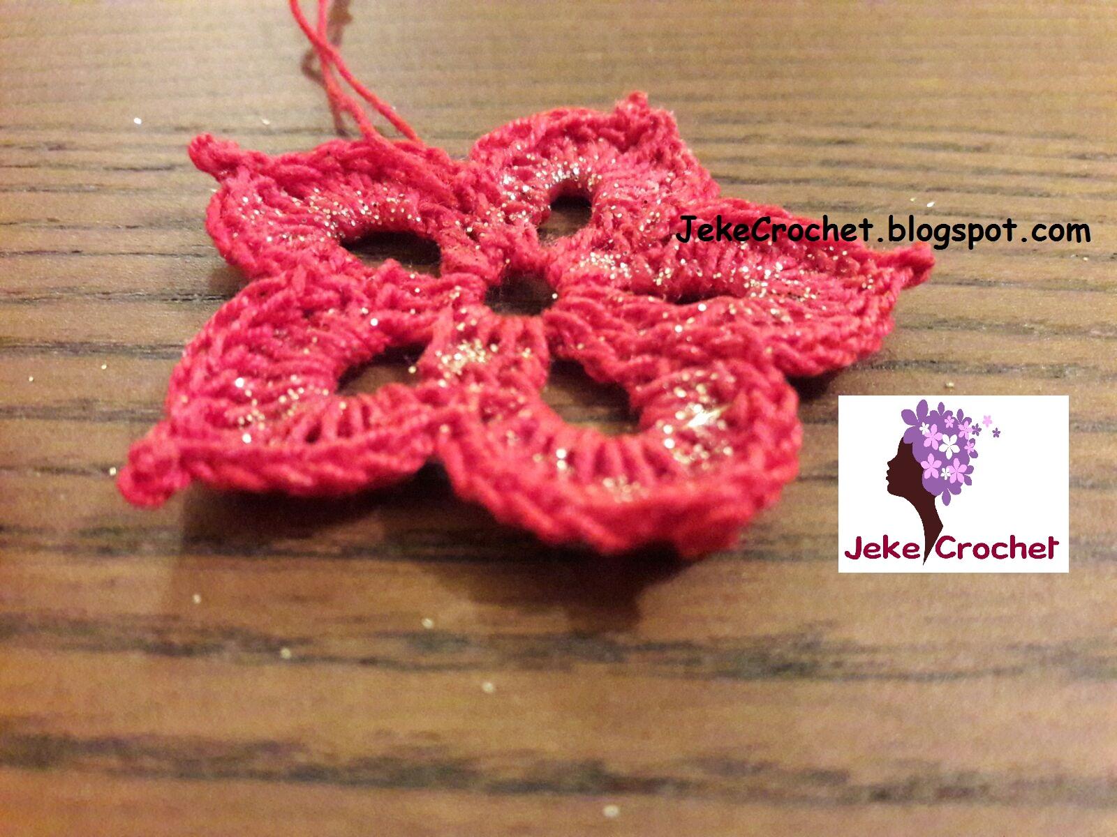 Jeke Crochet: Flor Navideña para el Árbol de Navidad 🎄🎅 (modelo 1 ...