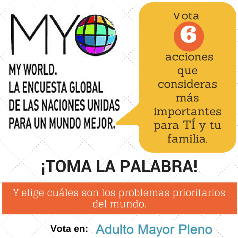 Vota en My World.