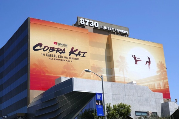 Giant Cobra Kai YouTube Red series billboard
