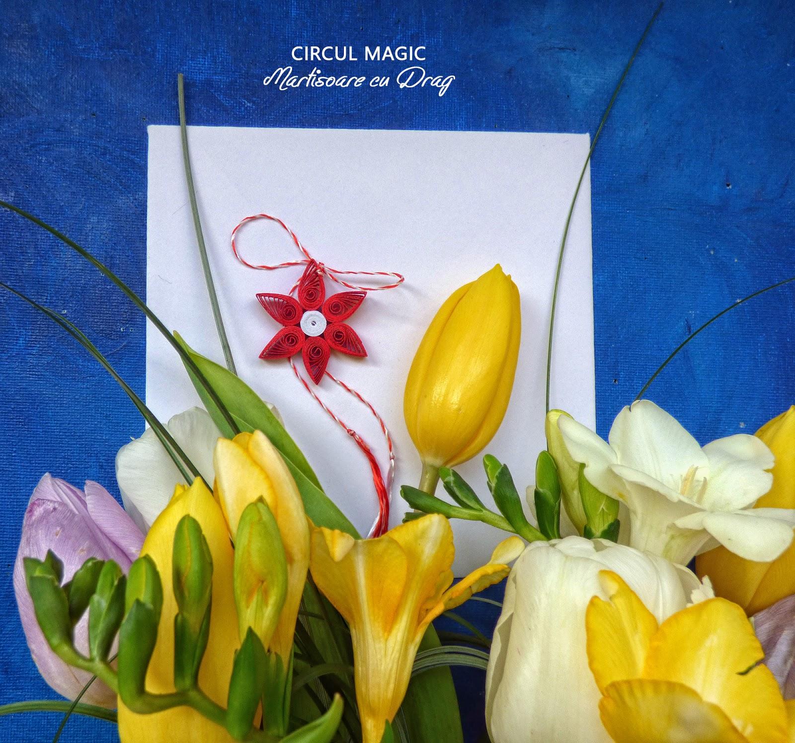 Martisoare Quilling 2017 Flori Rosii Circul Magic