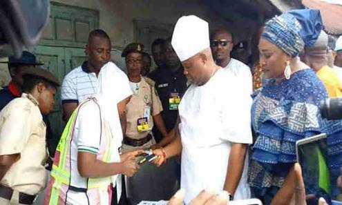 Osun Election Photos: PDP's Adeleke Casts His Vote