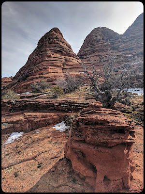 Tee Pees or Beehive shaped structures between the Wire Pass and Wave Trail head.