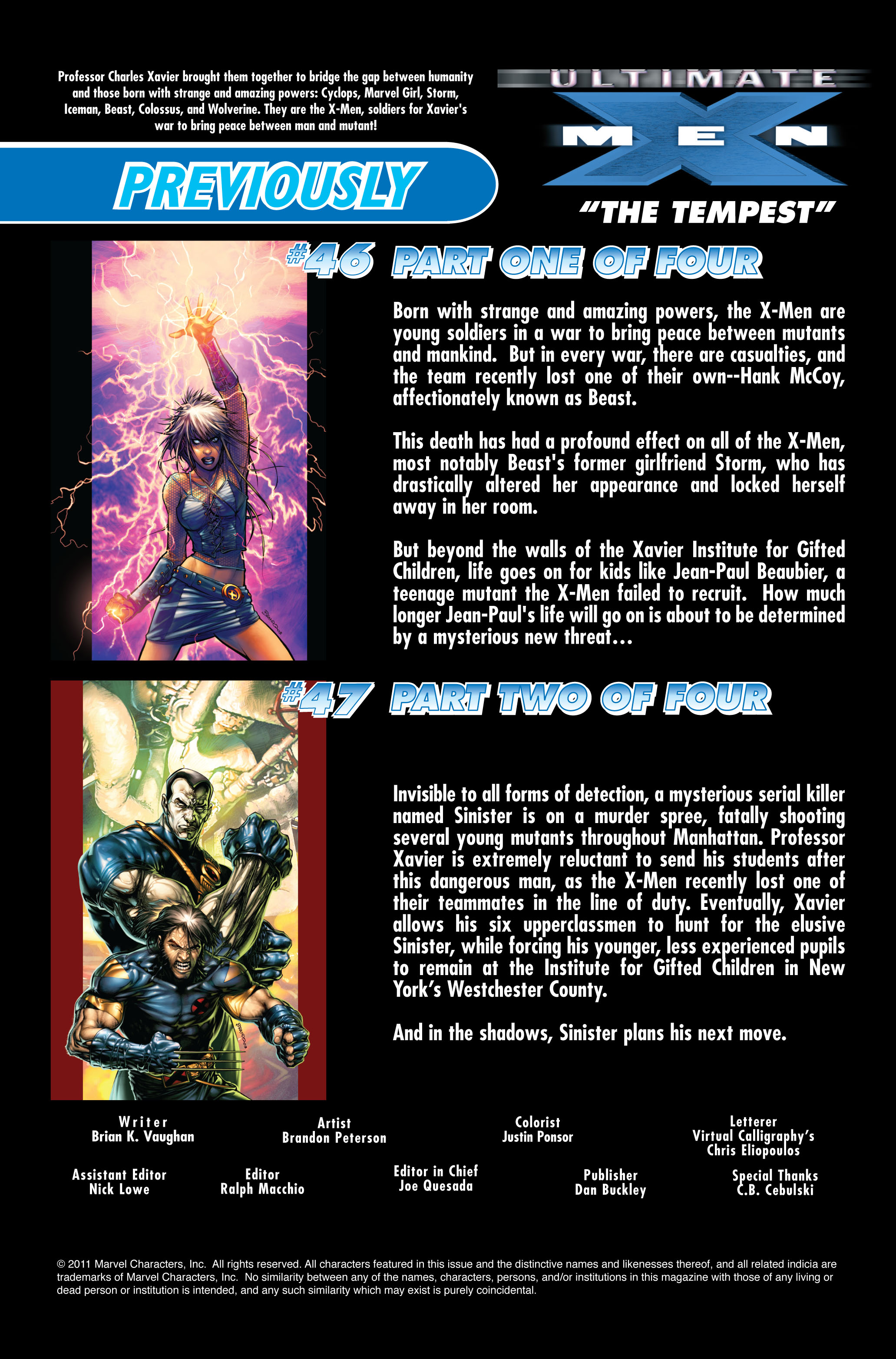Read online Ultimate X-Men comic -  Issue #48 - 2