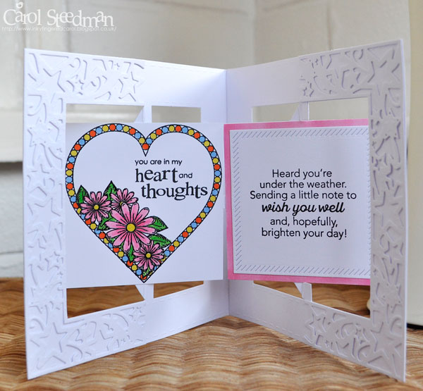 Inky fingers crafters companion accordion get well card 1 cut 2 square accordion card bases from white card i used a crafters companion die m4hsunfo