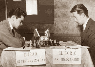 Partida Joaquim Durão - Svetozar Gligoric en el Zonal de Dublín de 1957