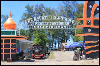 Objek Wisata Pantai Gondoriah Padang Pariaman