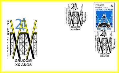 Sobre de la XX Exposición de Coleccionismo Minero de GRUCOMI