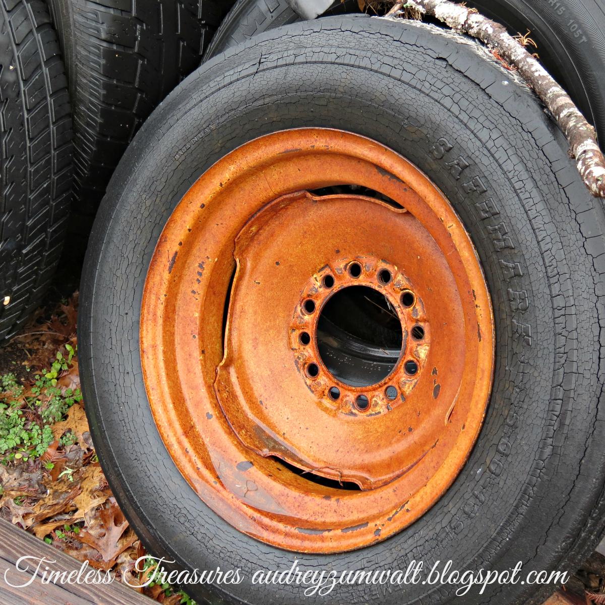 Timeless treasures junk yard treasures for Scrap tractor tires