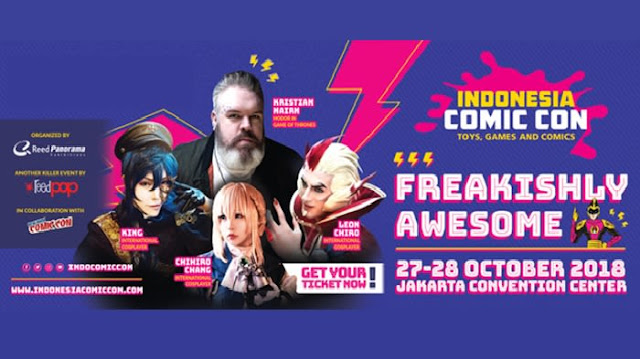 Promo Tiket Indonesia Comic Con 2018 Tokopedia