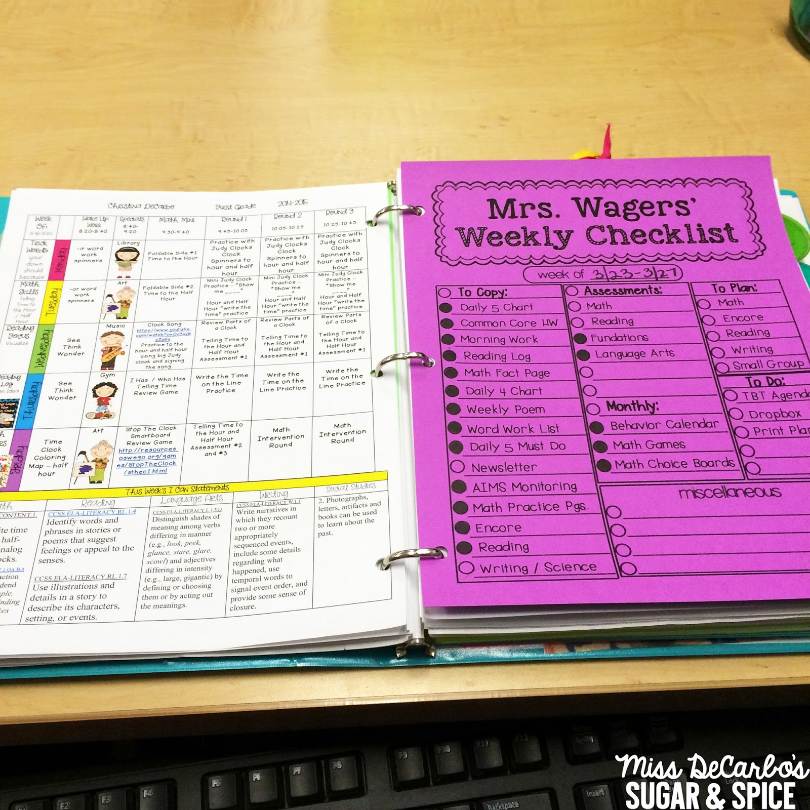 how i stay organized weekly lesson planning tips tricks miss