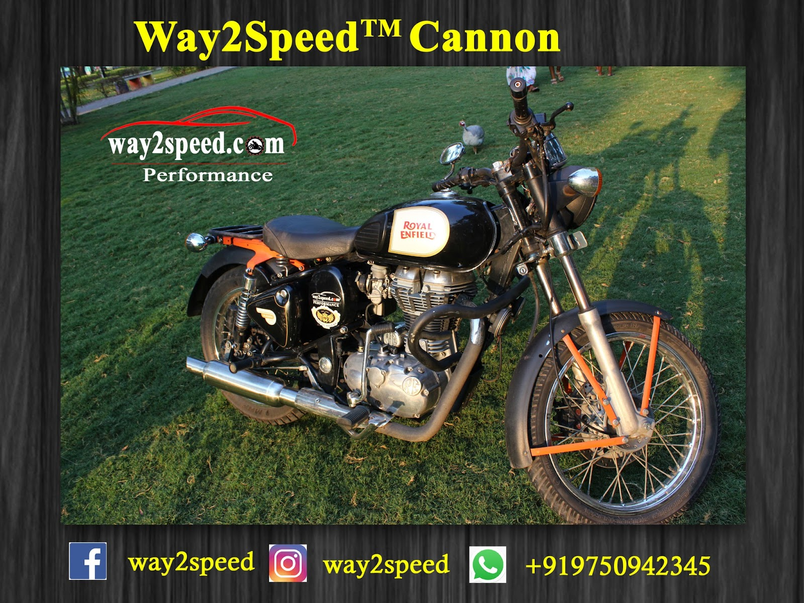 "Royal Enfield Free Flow Silencer ""way2speed Cannon""  # Royal Enfield Exhaust ""Way2Speed Cannon"" is made from Stainless steel SAE 304 grade. # Royal Enfield Exhaust ""Way2Speed Cannon"" Uses highest gauge metal for superior Thump  # Way2Speed Cannon Uses a Performance Tuned free flow Baffle designed specially for Royal Enfield  # Royal Enfield Exhaust ""Way2Speed Cannon"" is Insulated with high density Ceramic wool packing # Way2Speed Cannon is designed for street and off-roading purpose # Way2Speed Cannon increases initial, mid-range to top end performance.  # Way2Speed Cannon is satin stainless steel finish looks unique. # Royal Enfield Exhaust ""Way2Speed Cannon"" Rust Free non corrosive exhaust. # Designed and perfected by Way2speed Performance Royal Enfield Silencer 
