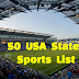 Full List of States and Sports.