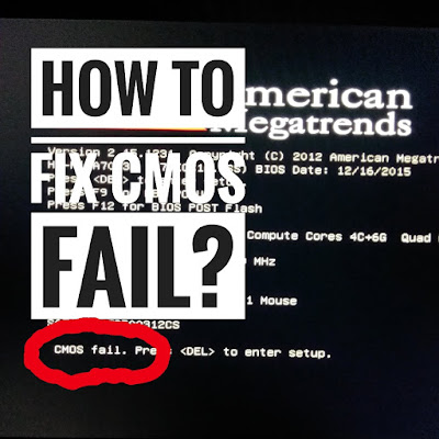 Cara Mengatasi CMOS Fail pada Saat Menyalakan Komputer (Reset BIOS CMOS PC)