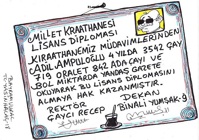 erdoğan diploma karikatür