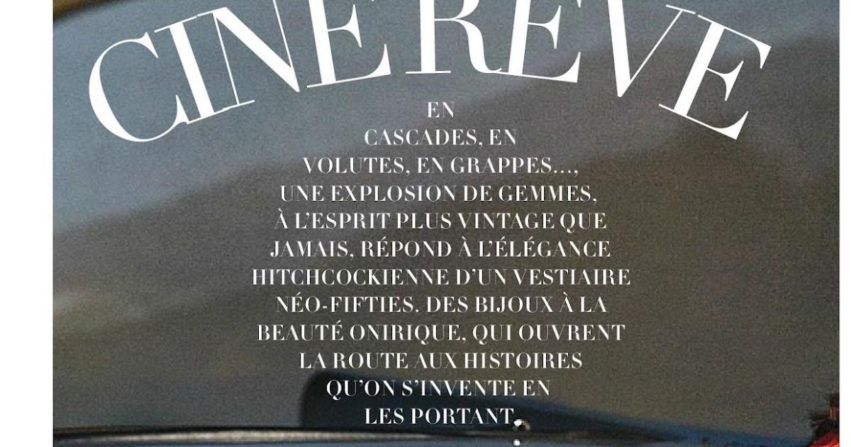 """Dreaming Of Dior: """"Cinema Dreams"""" Madame Figaro France May"""