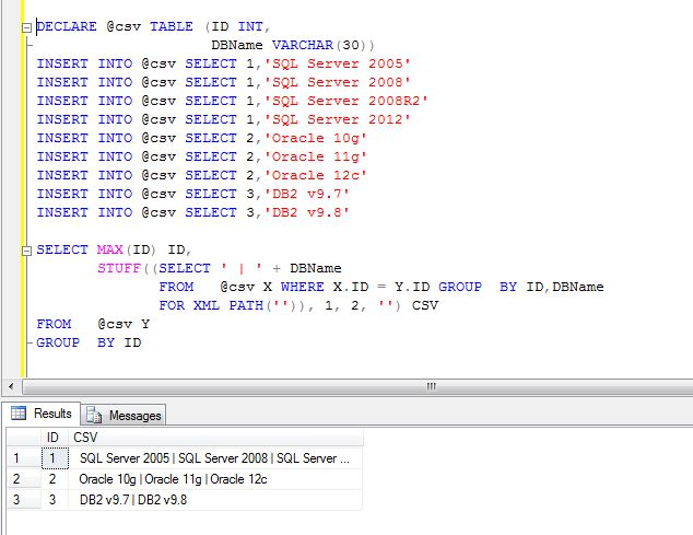 All about SQLServer: SQL Server - Combine separate row